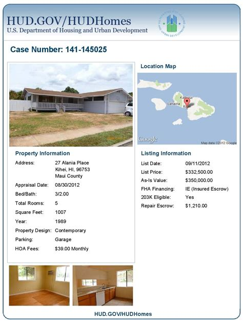 hud owned property in kihei hawaii is fha 203k renovation