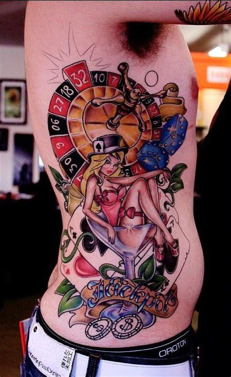 vegas themed tattoo designs casino themed ideas tattoos