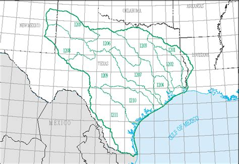 texas watershed map science in your watershed texas gulf region