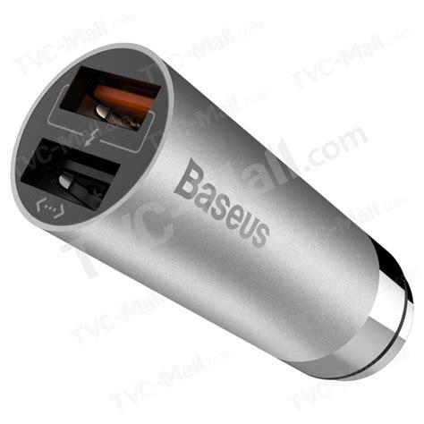 Baseus Carq Series Charge 30 Dual Usb For Car Charger baseus carq series qc3 0 dual usb car charger with shrapnel interface grey tvc mall