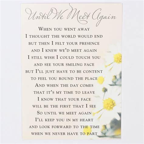 Letter Closing Until We Meet Again memorial card until we meet again only 99p