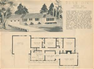 1950s Ranch House Floor Plans 1950 Home Building Plan Service Ranch Style Homes Of The