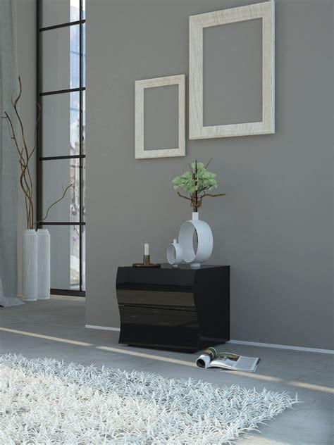 comodino moderno design comodino moderno drop bianco o nero per da letto