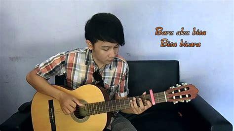 tutorial gitar nathan flanella aku bisa nathan fingerstyle cover youtube