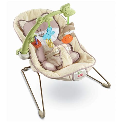 fisher price beary snug bouncer vibrating chair seat ebay
