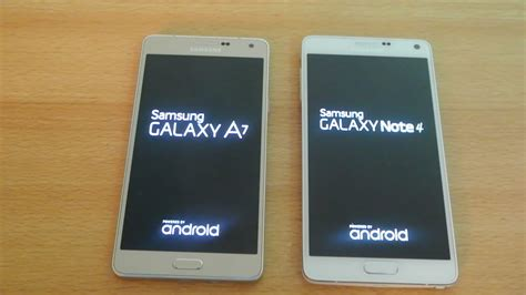 Samsung A8 Vs Note 4 samsung galaxy a7 vs samsung galaxy note 4 which is faster