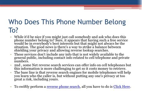 How To Lookup Who A Phone Number Belongs To Who Does This Phone Number Belong To