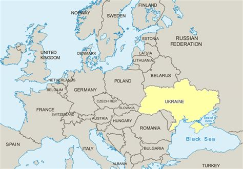 map ukraine europe ukraine map in europe