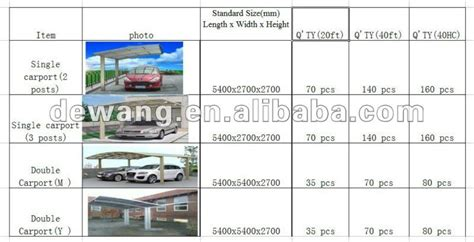 Single Car Carport Size Design For Aluminum Carport Buy Design For Aluminum