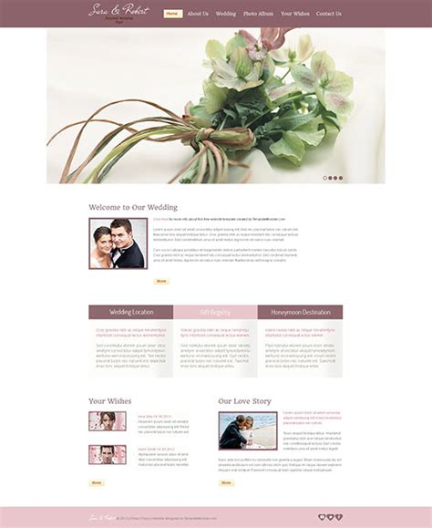wedding site templates free 60 free responsive html5 css3 website templates