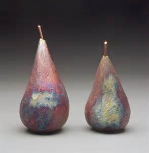 Unique Gifts Home Decor raku pears by mary obodzinski ceramic sculpture artful