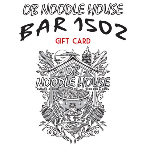 Noodles Gift Card - bar 1502 gift card ob noodle house