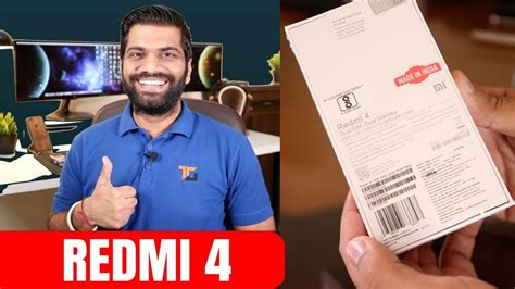 xiaomi redmi 4 india unboxing and look