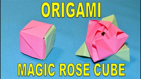 origami tutorial how to make dancing cubes how to make an origami magic rose cube paper flower rose
