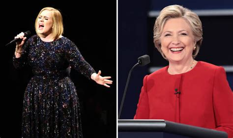 hillary clinton attends adele concert gets best adele backs hillary clinton in us president election as