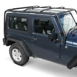 Jeep Roof Rack Accessories Trailfx 174 Jeep Wrangler 2005 Black Roof Rack