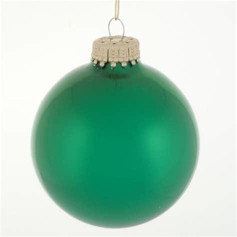 krebs emerald green glass baubles 8 x 67mm baubletimeuk