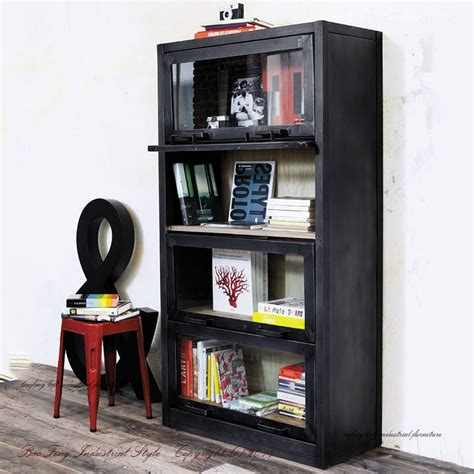 industrial style display cabinet loft industrial style display cabinet storage cabinet
