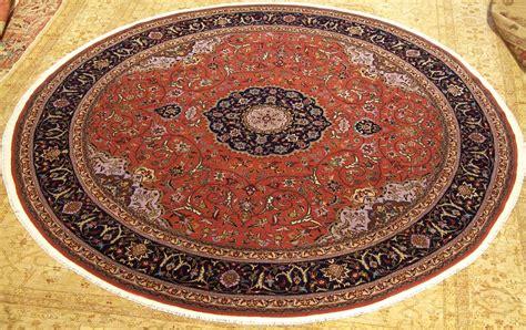 Circular Rugs 8 X 8 Handmade Quality Wool Silk Tabriz