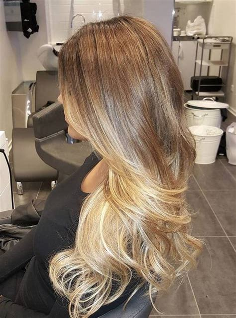honey brown hair with ombre blonde ombre hair to charge your look with radiance