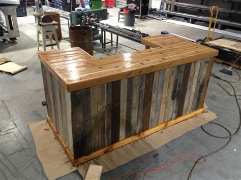 outdoor wood bar top ideas great bar from furnishly charlotte reclaimed wood