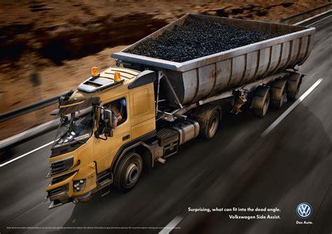 vw truck volkswagen toter winkel gute werbung
