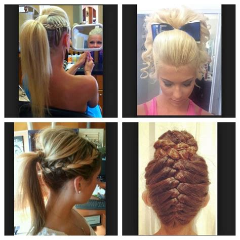 school cheer hairstyles 17 best images about cheerleading gymnastics on