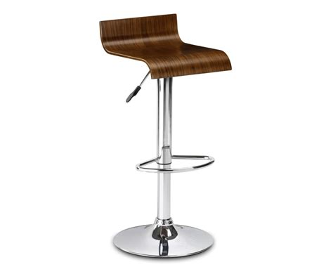 Gas Lift Bar Stools stratos walnut gas lift bar stool
