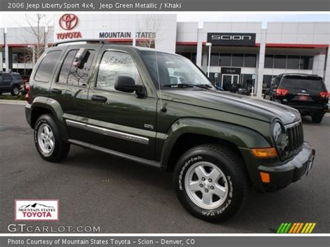 2006 green jeep liberty jeep green metallic 2006 jeep liberty sport 4x4 khaki