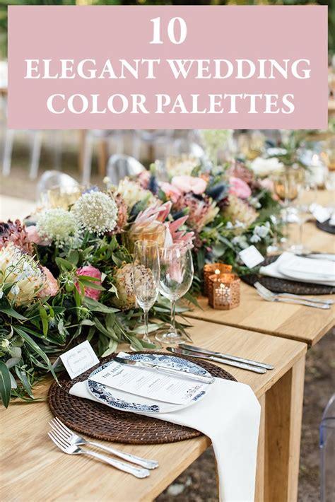 wedding color palettes 10 wedding color palettes junebug weddings
