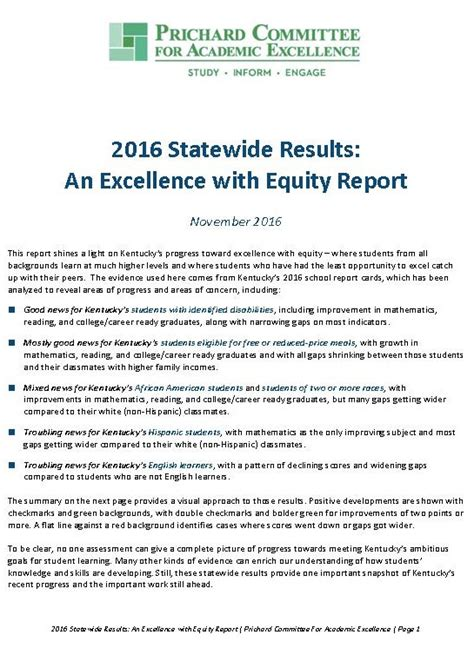 literacy essentials engagement excellence and equity for all learners books report 2016 statewide results an excellence with equity
