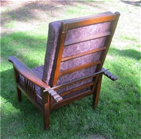 Antique Recliner Chair by Antique Mission Oak Morris Chair