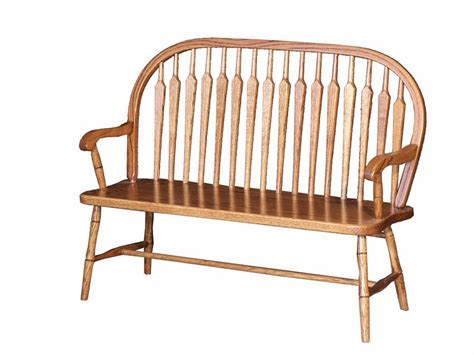 oak wood bench amish oak wood child s deacon s bench with bow paddle