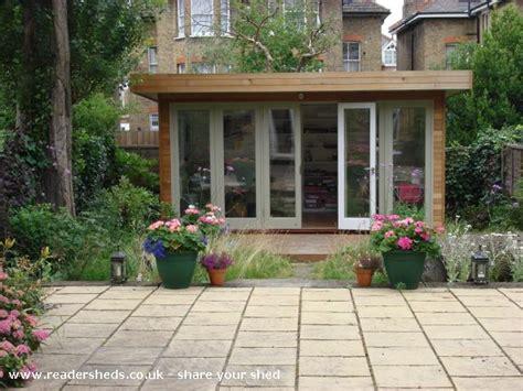 Streatham Sheds by Judith S Garden Office Workshop Studio From Garden In
