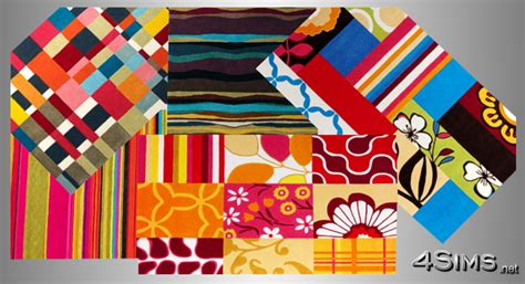 Modern Colorful Rugs Modern Colorful And Patchwork Rugs For Sims 3 4sims