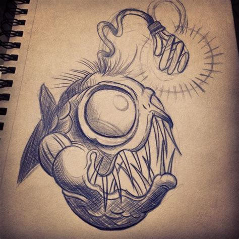 angler fish tattoo 18 angler fish designs