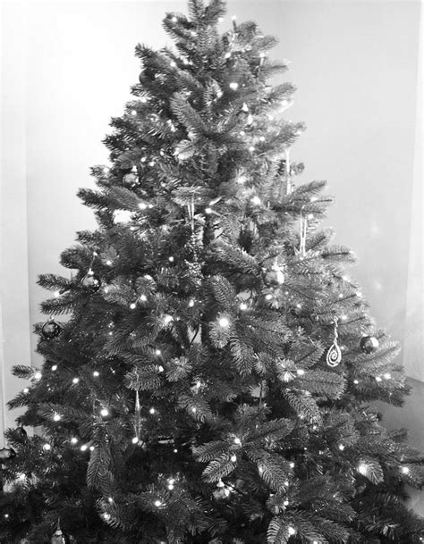 black and white christmas tree by elegantlyeccentric on