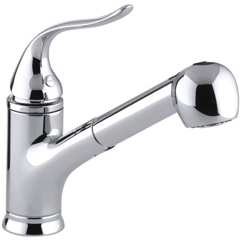 kitchen faucets kohler kohler faucet k 15160 cp coralais polished chrome pullout