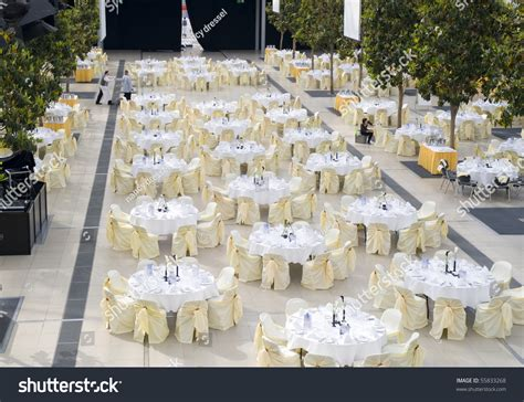 Wedding Dining Table Decoration Large Dining Table Set For Wedding Dinner Or Another Corporate Event With Beautiful Decoration