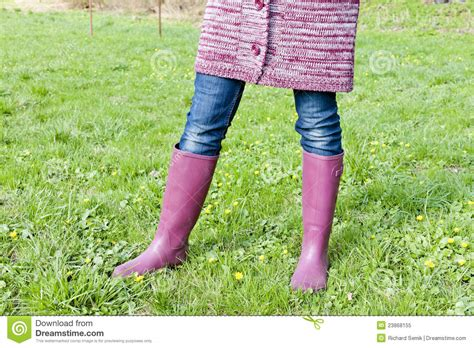 wearing rubber boots wearing rubber boots stock image image of standing