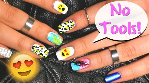 Top 5 Cool Nail Designs Easy To Do No Tools Needed 6 Easy Nail Designs For Beginners
