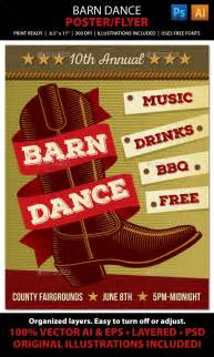 country music barn dance poster flyer or ad graphicriver