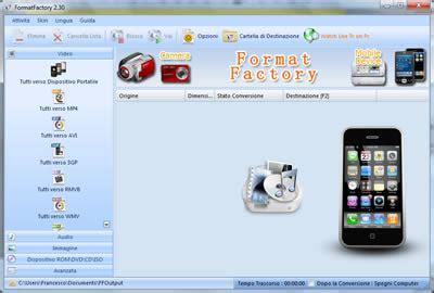 format factory iphone 4 come convertire video in mp4 per visualizzarli su iphone e