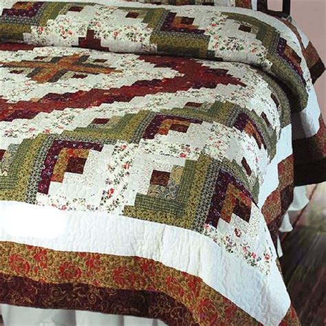 Patchwork Quilt Bedding - log cabin patchwork quilt bedding