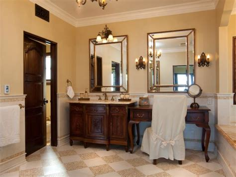 french country bathroom  hgtv