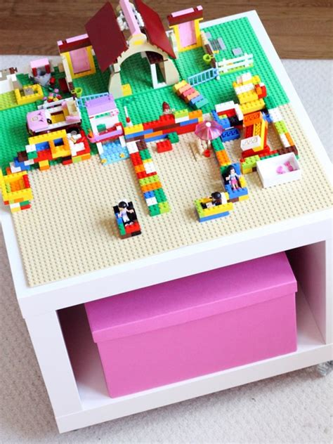 diy lego table ikea lack 10 cool diy lego tables from ikea supplies shelterness
