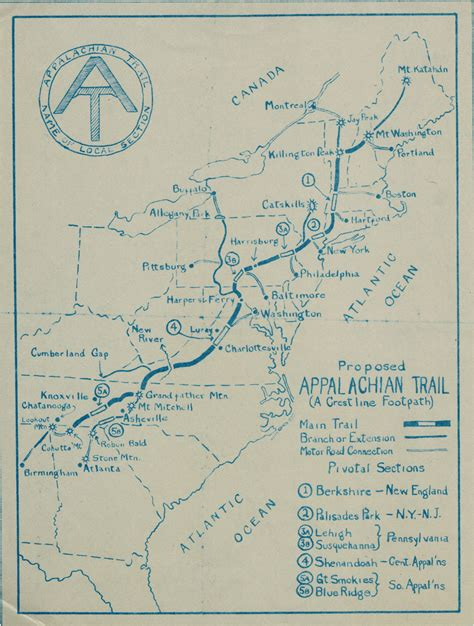 the appalachian trail map vintage hiking trail map www pixshark images