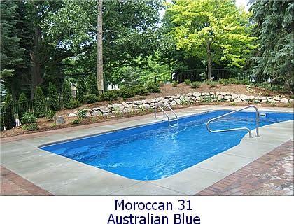 fiberglass pool backyard