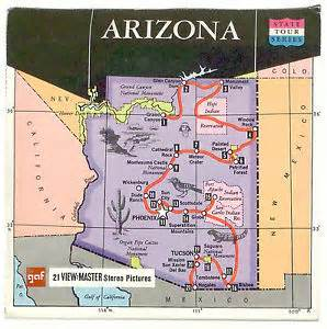 grand in arizona map vintage gaf view master arizona a360 reel set grand
