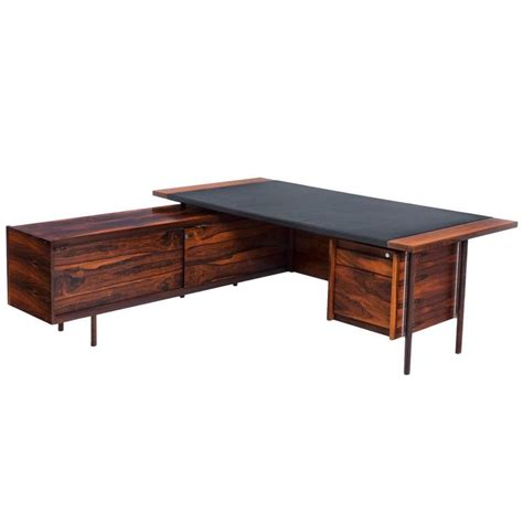 Sven Ivar Dysthe Corner Executive Desk In Rosewood For Corner Desks For Sale